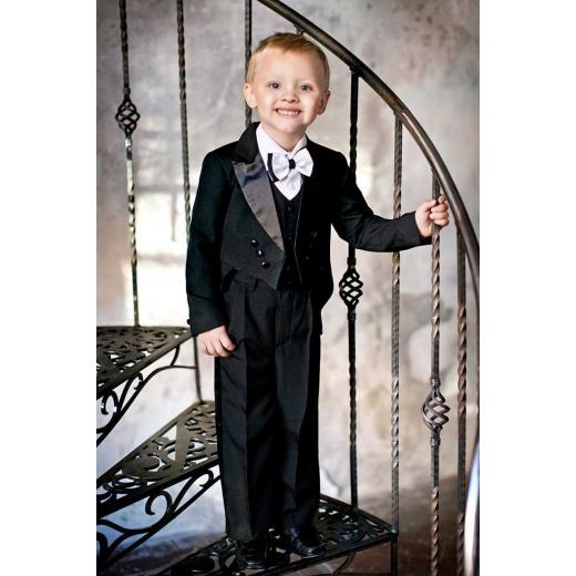 Детский костюм с фраком черный