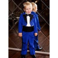 Фрак костюм для мальчика синий с черным