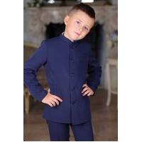 Френч костюм для мальчика синий 116