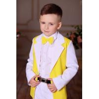 Костюм для мальчика белый с желтым
