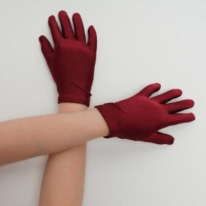 Перчатки детские на 5 пальцев бордовые