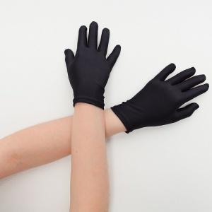 Перчатки детские на 5 пальцев черные