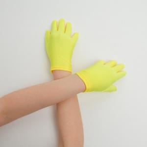 Перчатки детские на 5 пальцев желтые