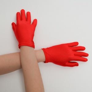 Перчатки детские на 5 пальцев коралл