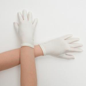 Перчатки детские на 5 пальцев молочные
