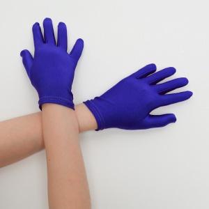 Перчатки детские на 5 пальцев синие