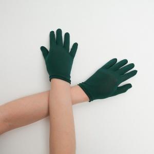 Перчатки детские на 5 пальцев зеленый (темный)