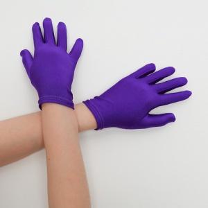 Перчатки детские на 5 пальцев фиолетовые (яркие)