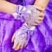 Перчатки митенки для платья без пальцев сиреневые мини