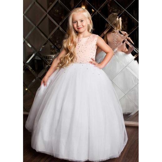 Детское бальное белое платье