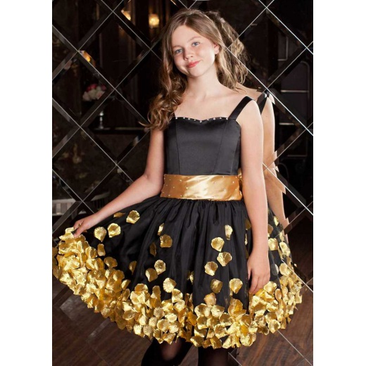 Черное бальное платье для девочки
