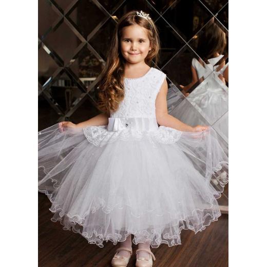 Белое пышное платье для девочки