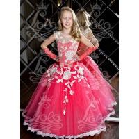 Нарядное платье для девочки коралл