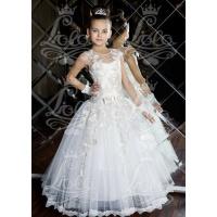 Бальное молочное платье для девочки