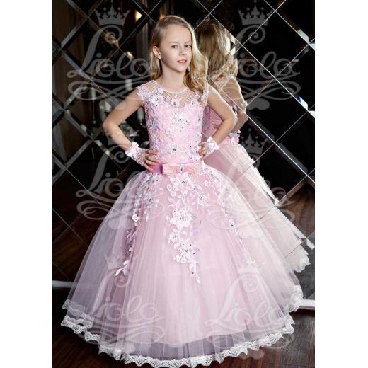 Розовое бальное платье для девочки