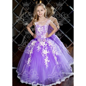 Нарядное платье для девочки сирень