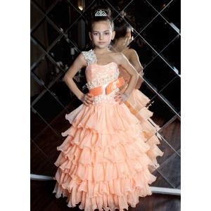 Праздничное платье для маленькой принцессы персиковое