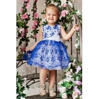 Пышное синее платье для девочки