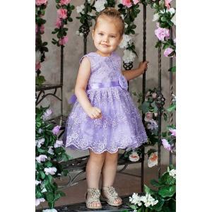 Бальное платье для девочки сирень