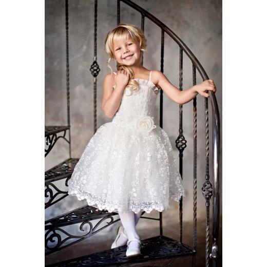 Платье для девочки короткое белое