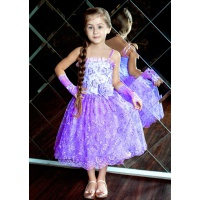 Бальное платье для девочки сиреневое