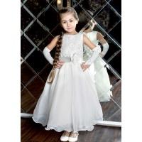 Нарядное молочное платье для девочки