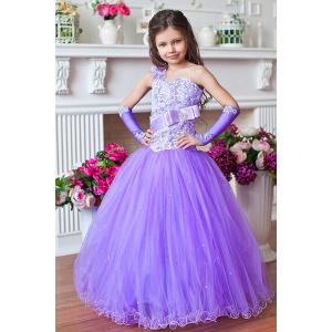 Нарядное сиреневое платье для девочки