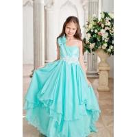 Пышное бальное платье для девочки морская волна