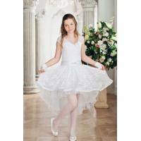 Вечернее коктейльное платье для девочки белое