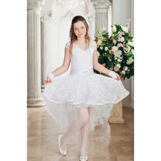 Детское коктейльное платье белое