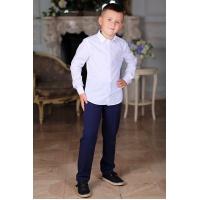 Рубашка для мальчика белая длинный рукав 116