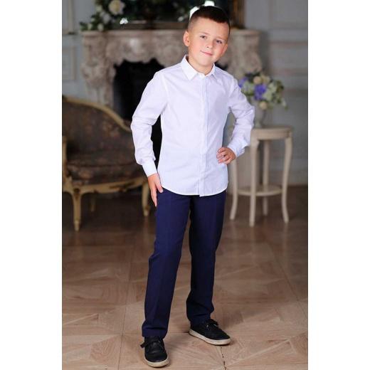 Детская рубашка белая с длинным рукавом для мальчика