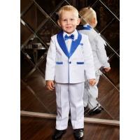 Смокинг костюм для мальчика белый с синим