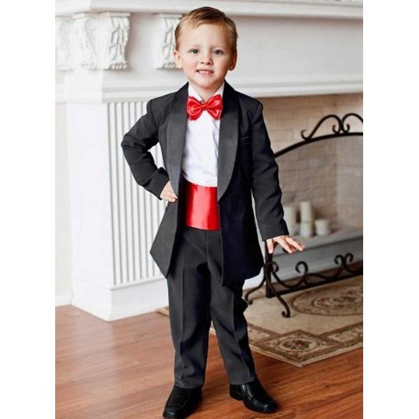 Смокинг костюм для мальчика черный 80