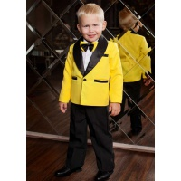 Смокинг костюм для мальчика желтый с черным
