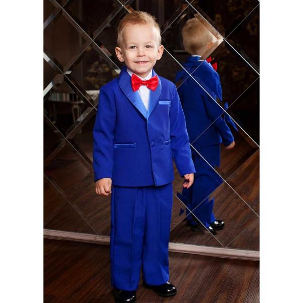 Смокинг костюм для мальчика синий 80