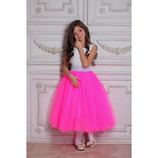 Фатиновая юбка для девочки розовая (малина)