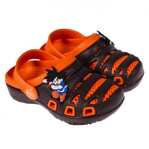 Пантолеты пляжные детские, цвет коричневый/оранжевый, размер 24