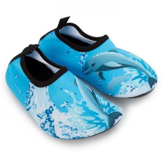 """Аквашузы детские MINAKU """"Дельфины"""" голубой, размер 22/23"""