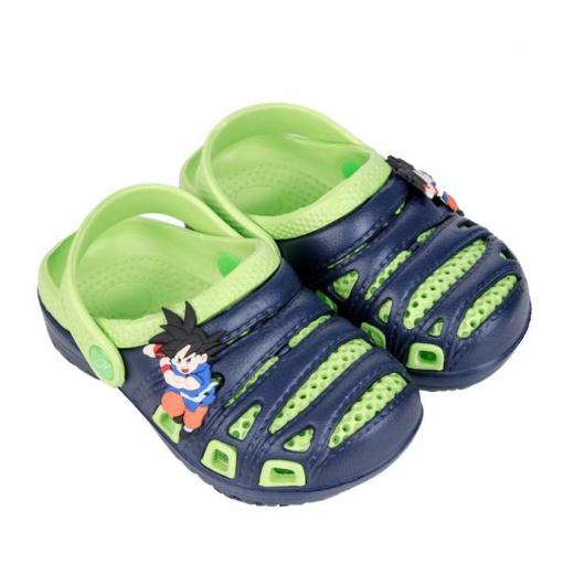 Пантолеты пляжные детские, цвет синий/зелёный, размер 24