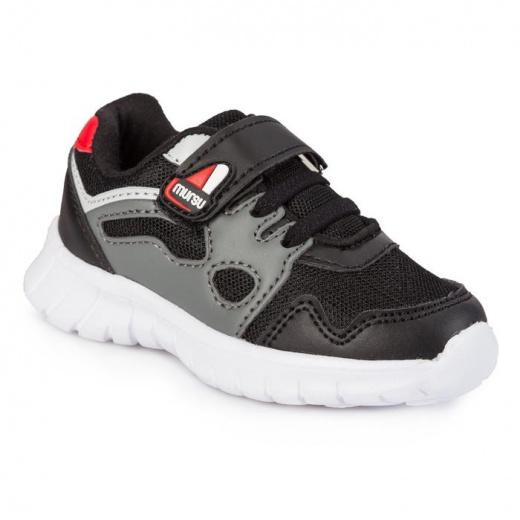 Кроссовки для мальчика, арт. 208126, цвет чёрный/ серый, размер 22