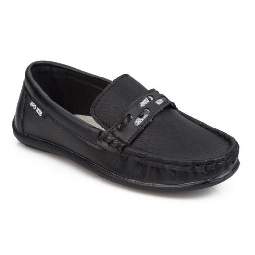 Мокасины детские, цвет чёрный, размер 33