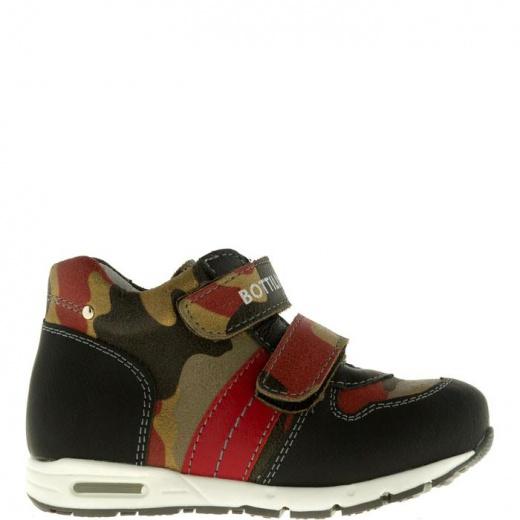 Ботинки детские, размер 21, цвет черно-красный 5053689