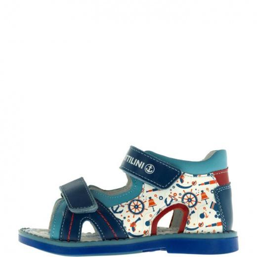 Сандалии детские, размер 24, цвет голубой 5053727
