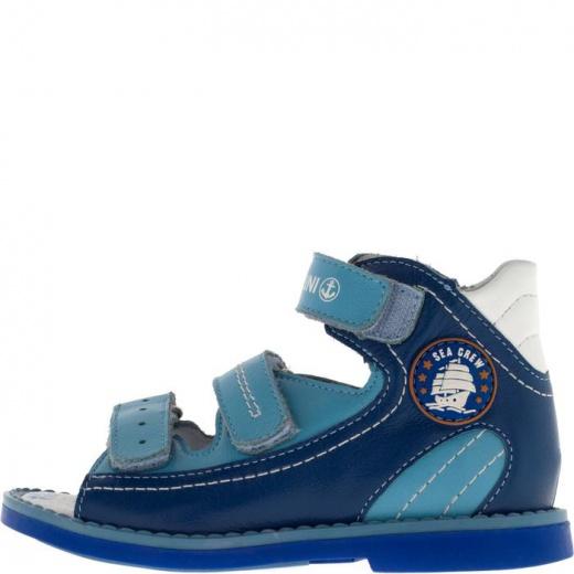 Сандалии детские, размер 18, цвет синий 4902985