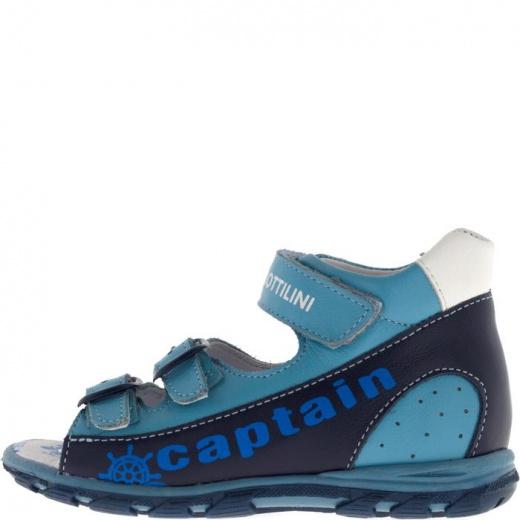 Сандалии детские, размер 18, цвет голубой 4903141