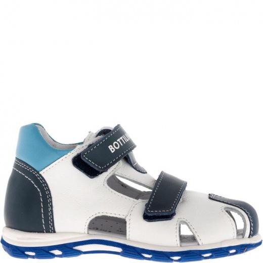 Сандалии детские, размер 25, цвет сине-белый 5053886