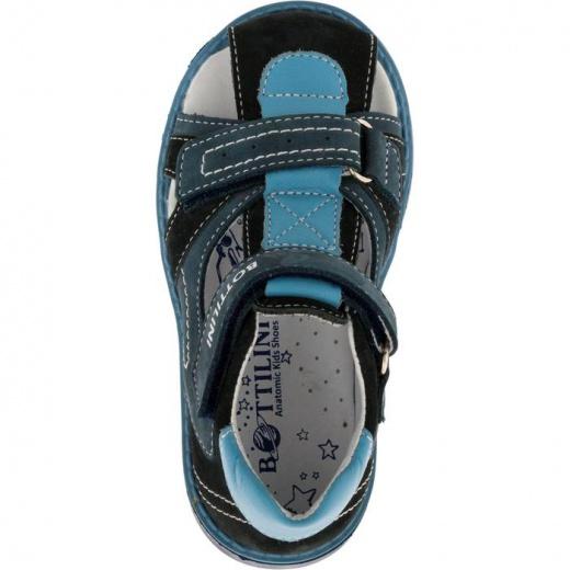 Сандалии детские, размер 18, цвет сине-голубой 5053840