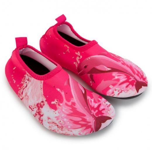 """Аквашузы детские MINAKU """"Дельфины"""" розовый, размер 22/23"""