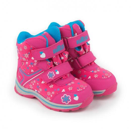 Ботинки для девочек, цвет розовый, размер 27
